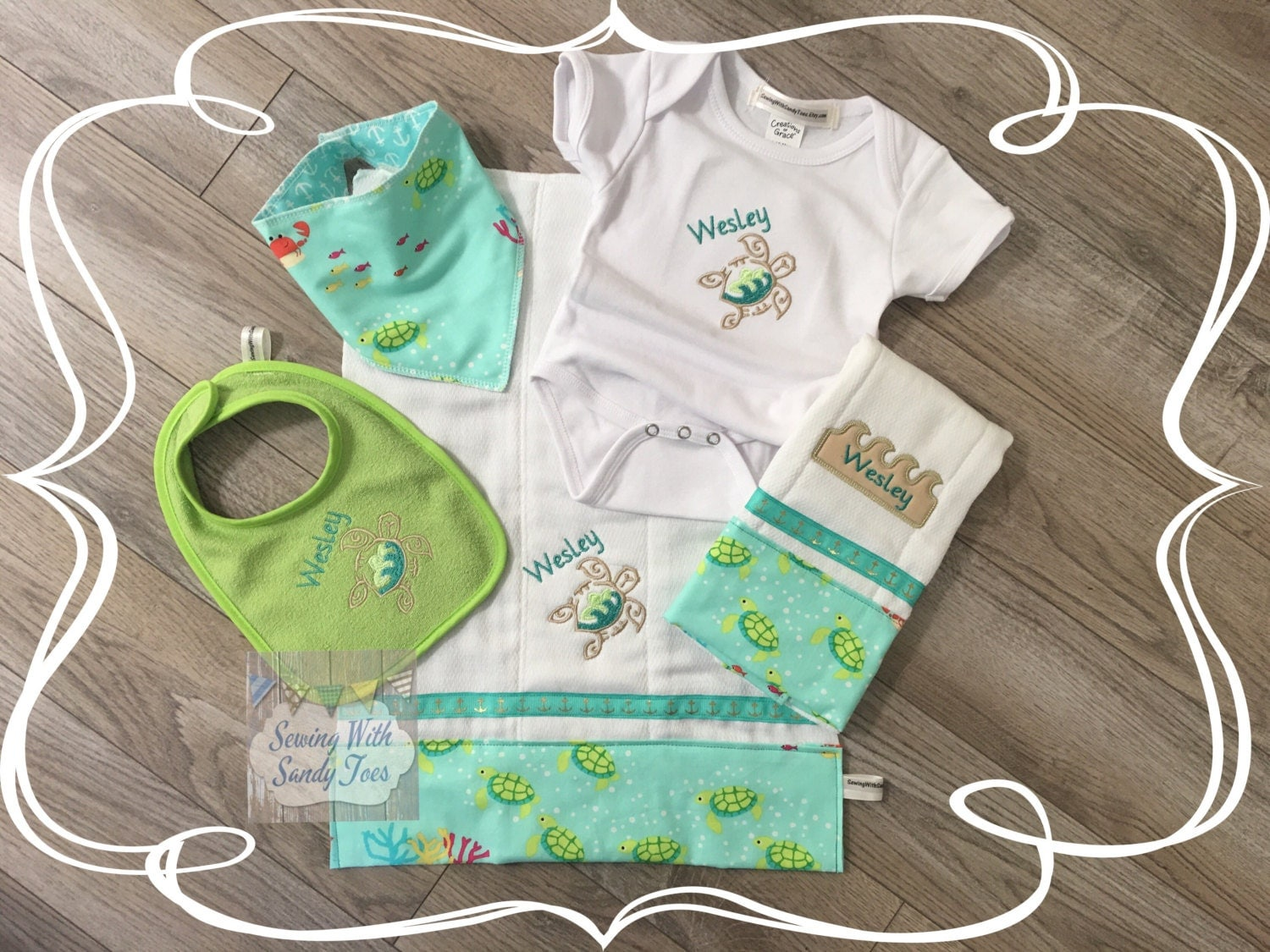 Personalised Baby Gift Sets : Baby gift shower personalized set