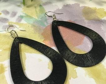 Black Metal, Dangle Earrings