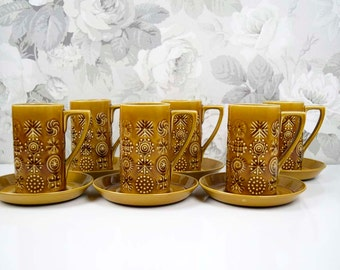 Vintage Portmeirion 'Totem'  by Susan Williams-Ellis Stoke-on-Trent Made in England Coffee Set