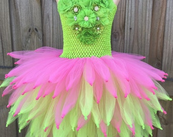 Tinkerbell costume, tinkerbell birthday, Tinkerbell tutu, Fairy tutu, fairy costume, fairy party, fairy birthday, pink fairy tutu, pixie