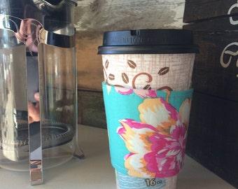 Eco-friendly reversible coffee cozy, coffee sleeve