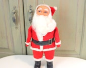 Large Vintage Standing Santa Made in Japan Large Christmas Ornament Centerpiece Holiday Tree Decoration Home Decor Santa Claus Collectible
