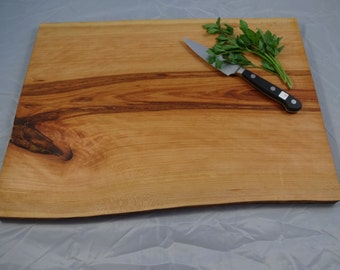 Live Edge cutting board cherry wood serving tray / cheese board with natural live edge Ready to Ship