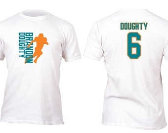 Limited Edition White Dolphins Doughty Football Shirt All sizes up to Plus 5x