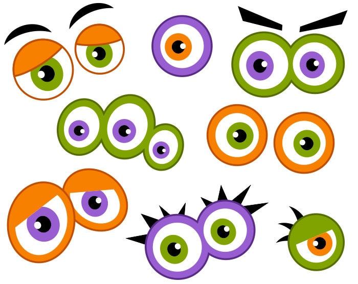 monster eyes digital clip art  cute monster eyes chrysanthemum book clip art chrysanthemum clip art black white