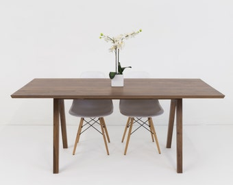 "Midcentury Modern, Dining Table, Solid Walnut Table, Modern Dining Table, Midcentury Table, Farmhouse Table, Wood Table ""The Sputnik"""