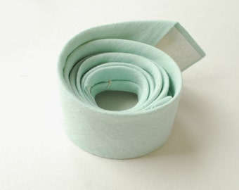 Mint Linen Necktie- Men's Tie- Wedding Ties- Grooms  Necktie-Prom Tie- Aqua Green Neck Tie