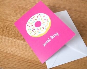 Sweet thing greeting card