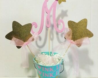 Twinkle twinkle little star centerpiece, cake topper
