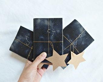"SET OF 3 / Constellation notebook, Star notebook, Indigo Sketchbook, "" horoscope notebook """