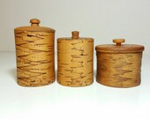 Birch bark Swedish hand made wooden boxes. Nordic folkart tins.