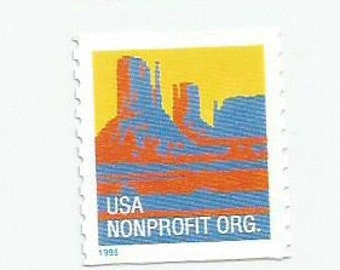 5 Butte Monument Valley Postage Stamps