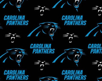 Carolina Panthers fabric NFL fabric National Football League Black Blue sports 100% cotton fabric by the yard sewing quilting
