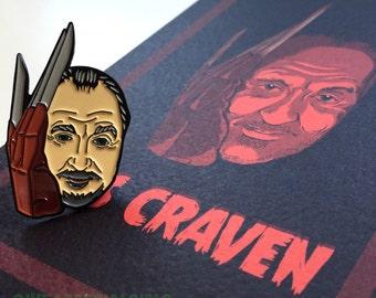Pin/Postcard gift set Wes Craven