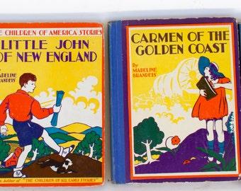Lot of 4 CHILDREN OF AMERICA Rare Children's Books Madeline Brandeis 1935 - 1940