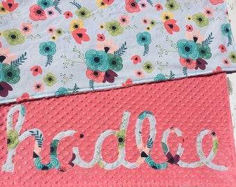 Personalized minky blanket, Baby Blanket, Name blanket, Minky baby blanket, Custom baby blanket