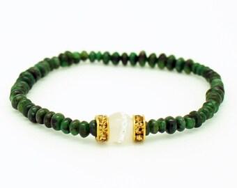 Moonlit Emerald Bracelet