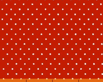 "33"" REMNANT Windham Basics - Brights - Small Dot in Red - American Basics - Cotton Quilt Fabric - Windham Fabrics - 29400-6 (W3457)"