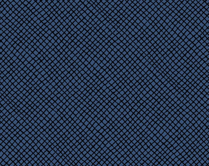 Half Yard Peanuts - Hugs for Heroes - Netting Blender in Navy Blue - Snoopy Cotton Quilt Fabric - Quilting Treasures - 22775-N (W3113)