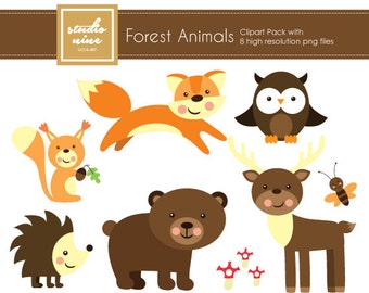 Forest Animals Clipart Set