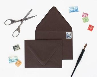 Envelopes - A7 Size - Set of 25 - Truffle Color - Deep V Euro Flap
