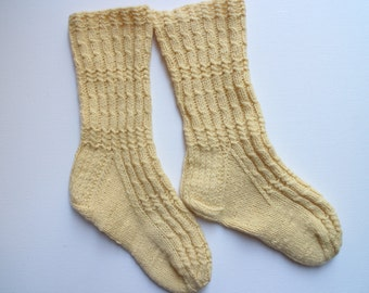 Hand knit wool socks Warm wool socks