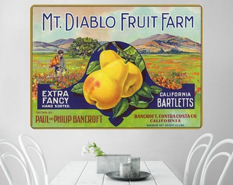 Mt Diablo Fruit Farm Pears Wall Decal - #60851