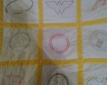 Superhero French Knot Quilt