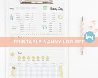 Nanny log | Etsy