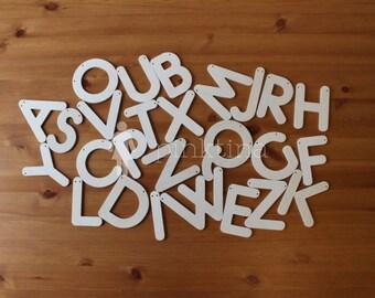 English alphabet - caps. Montessori teaching. Garlands. Alphabet Photography Letters.