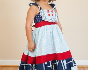 Miss Molly Ruffle Dress (Sizes 5-10)