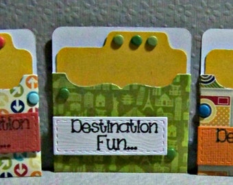 Destination Fun...  Set Of 3...  Mini Gift Cards...