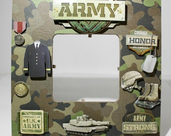 armyunited states military armedforces army memorial picture frame - Military Frames