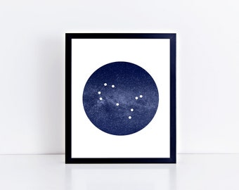 Gemini Constellation Art Print • Buyable Frame Option
