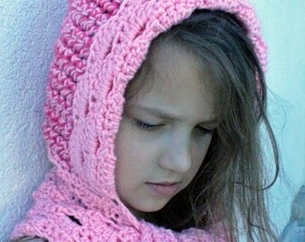 crochet hooded scarf pattern - Shenandoah Scoodie - crochet pattern - instant download pdf