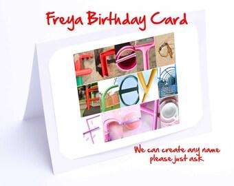 Freya Personalised Birthday Card