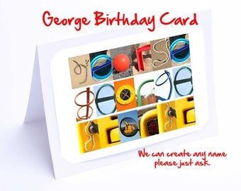 George Personalised Birthday Card