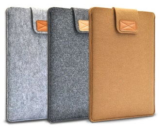 "Wool Felt Laptop Sleeve Case/ Notebook Bag /MacBook Air Pro Retina 13"" Cover"