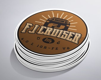 3x3 Rounded Fj Cruiser Sticker
