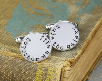 Together We Will Rule The Galaxy Cuff Links- Star Wars - Hand Stamped Gift