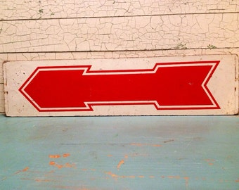 Arrow Sign Vintage Wood