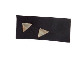 Sterling Triangle Stud Earrings