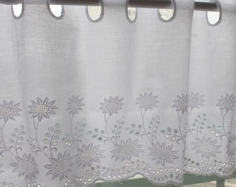 1y Vintage Embroidered lace Window Valance curtain yh557 (90x26.5cm) laceking