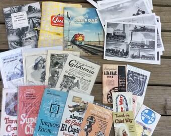 Santa Fe Railroad Transportation Advertising Collection