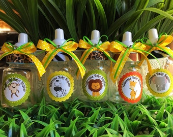 12 Safari Bottle Favors For A Boy  Baby Shower Favors  Safari Baby Shower