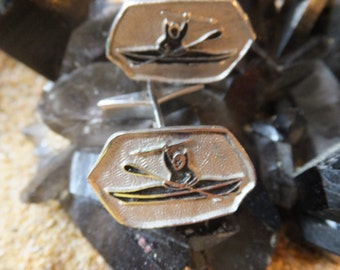 Gorgeous Vintage Inuit Sterling Silver Cuff Links