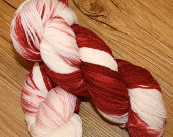 "Superwash Hand Dyed Sock Yarn:  ""40 Whacks"""