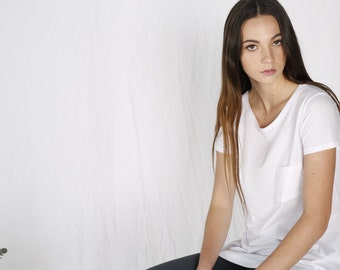 SALE!! Organic cotton white tshirt