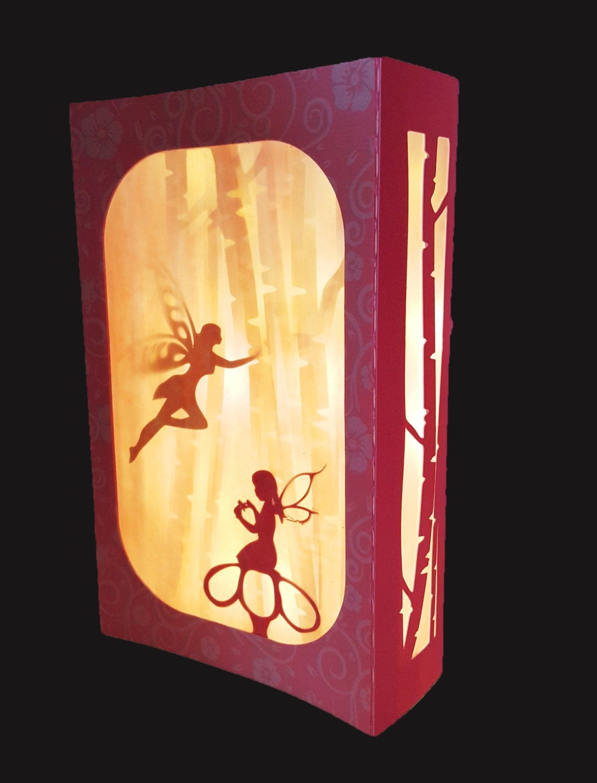 Dancing Fairies Light Up Box Card Template
