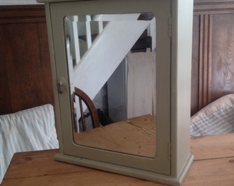 Vintage mirror bathroom cabinet cupboard